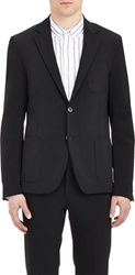 Barneys New York Stretch Two Button Sportcoat Black Size 40