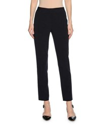 Giorgio Armani Stretch Wool Blend Ankle Pants Navy