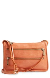 Hobo Mission Leather Crossbody Bag Orange Persimmon