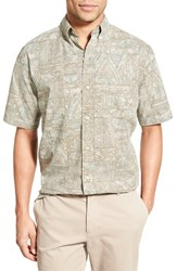 Men's Reyn Spooner 'Basket Tapa' Classic Fit Wrinkle Free Sport Shirt
