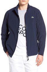 Lacoste Men's Golf Two Layer Water Resistant Jacket Navy Blue White