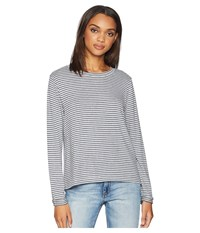 Roxy Chasing You Stripe Long Sleeve Top Heritage Heather Thin Stripes Clothing Gray