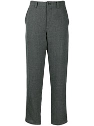 Y's High Waisted Trousers Grey