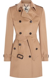 Burberry The Kensington Mid Wool And Cashmere Blend Felt Trench Coat