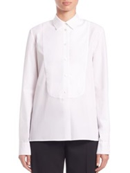 Stella Mccartney Lisa Poplin Tuxedo Shirt Optical White