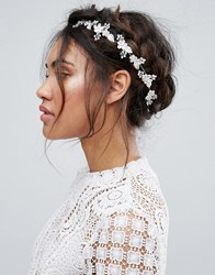 New Look Jewelled Hair Garland Clear White