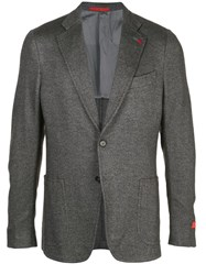 Isaia Classic Single Breasted Blazer Grey