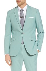 Topman Skinny Fit Suit Jacket Green