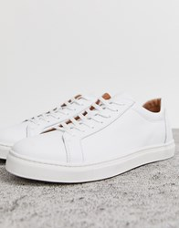 Selected Homme Premium Leather Trainer In White