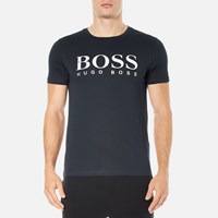 Boss Orange Men's Tommi 3 Large Logo T Shirt Dark Blue
