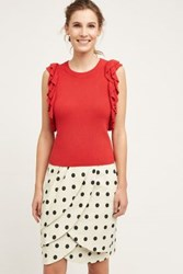 Anthropologie Constance Pullover Red