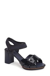 Camper Women's 'Myriam' Ankle Strap Platform Sandal Navy Leather