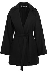 Mcq By Alexander Mcqueen Belted Wool Blend Felt Coat Black