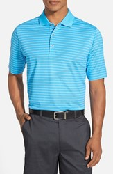 Men's Bobby Jones 'Xh20 Pencil Stripe' Regular Fit Four Way Stretch Golf Polo Marine Blue