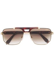 Cazal Aviator Sunglasses Gold
