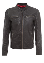 Superdry Real Hero Biker Leather Jacket Black