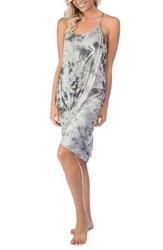 Green Dragon Women's Crystal Forest Genvieve Cover Up Dress Charcoal