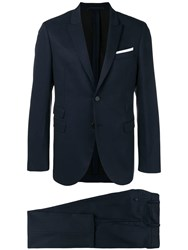 Neil Barrett Two Piece Suit Blue