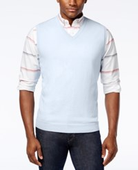Club Room Men's Cotton Sweater Vest Only At Macy's