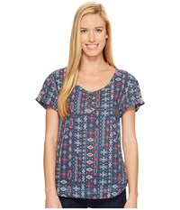 Woolrich Twin Pines Eco Rich Shirt Harbor Women's Clothing Blue