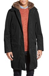 Men's Mackintosh Longline Parka With Faux Fur Trim