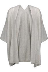 Magaschoni Draped Cashmere Cardigan Light Gray