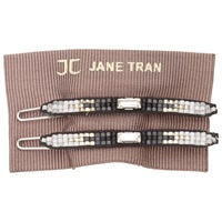 Jane Tran Ombre Gem Hair Slides Pack Of 2 Silver