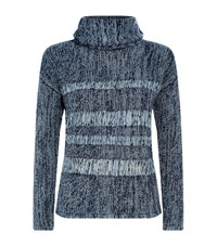 Ag Jeans Open Weave Roll Neck Jumper Female Grey