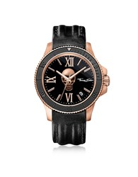 Thomas Sabo Men's Watches Rebel Icon Rose Gold Stainless Steel Men's Watch W Black Leather Strap