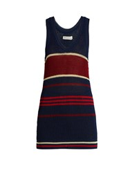 Etoile Isabel Marant Dully Striped Knit Tank Top Blue Multi