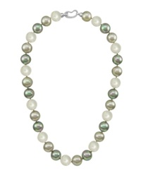 Majorica Pearl Necklace Sterling Silver Multicolor Organic Man Made Pearls