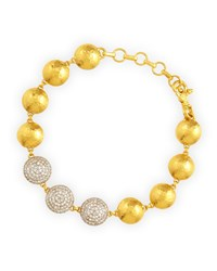 Lentil Ice 24K Gold And Diamond Bracelet Gurhan White