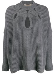 Antonio Berardi Cutout Ribbed Jumper 60