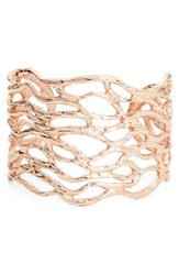 Karine Sultan Women's Open Cuff Rose Gold