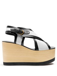 Isabel Marant Zlova Cross Strap Canvas Wedges Cream