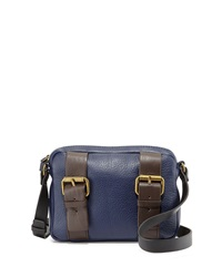 Kelsi Dagger Grasslands Buckled Leather Crossbody Bag Indigo Blue