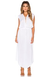 Indah Pamela Lace Up Maxi Dress White