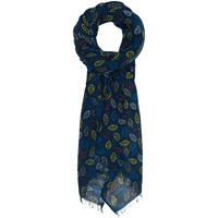 Seasalt Pretty Leaf Cotton Scarf Navy Multi