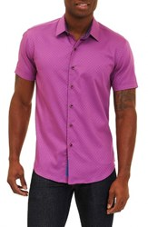Robert Graham Men's Vertigo Classic Fit Sport Shirt Purple