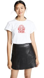 Anya Hindmarch Best Day Ever T Shirt White Red
