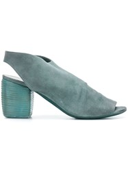 Marsell Block Heel Mules Blue