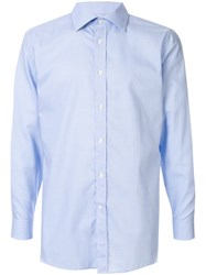 Gieves And Hawkes Long Sleeved Cotton Shirt Blue