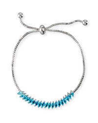 Fallon Toggle Jagged Edge Crystal Bracelet Blue