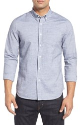 Ag Jeans Men's Grady Trim Fit Slub Chambray Sport Shirt
