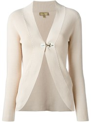 Fay Buckle Fastened Cardigan Nude And Neutrals