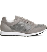 Office Party Glitter Trainers Grey