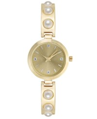 Charter Club Women's Imitation Pearl Bracelet Watch 29Mm Created For Macy's Gold