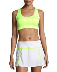 Monreal London Essential Scoop Neck Performance Sports Bra Yellow