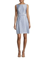 Jones New York Striped Fit And Flare Dress Harbor Blue