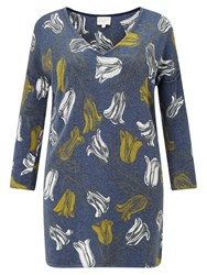 East Tulip Print Jumper Navy